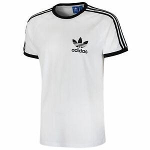 Détails sur Adidas Originaux Clfn T Shirt Californie Rétro Vintage Trefoil Solde Été HOMME