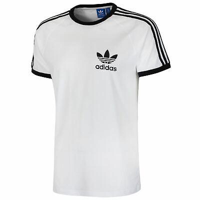 Adidas Originals affectés T Shirt California rétro vintage trefoil vente Summer Men's | eBay