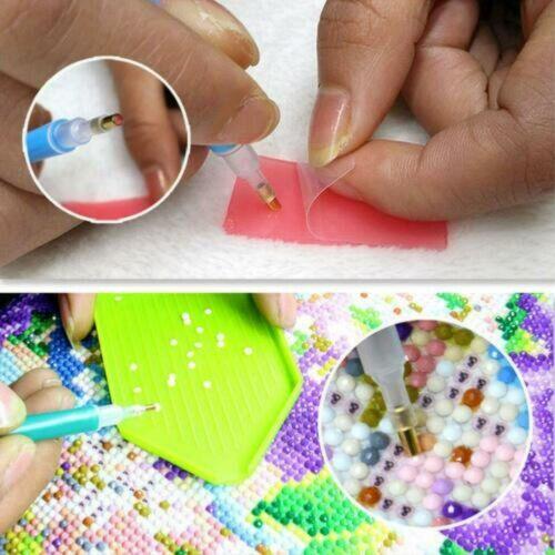 Diamond Mosaic 5D Full Drill Colorful Elephant Souvenir Cross-Stitch Kit