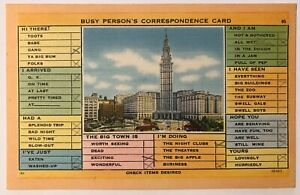 Cleveland-Ohio-OH-Busy-Person-039-s-Correspondence-Card-Postcard-January-1953