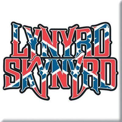 Lynyrd Skynyrd Fridge Magnet Calamita Flag Logo Official Merchandise