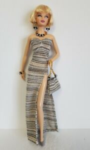 Model-Muse-Barbie-Fashionistas-Doll-Clothes-Dress-Purse-and-Jewelry-NO-DOLL-d4e