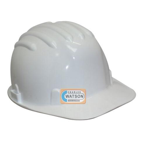 Blanco Casco de Seguridad Trabajo Obra Bump Tapa Impacto En397 Lugar Salud