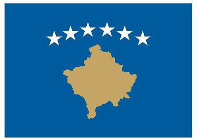 KOSOVO Vinyl International Flag DECAL Sticker MADE IN THE USA F260