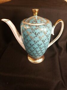 Beautiful-CHODZIEZ-Poland-Tea-Coffee-Pot-SET-Polish-China