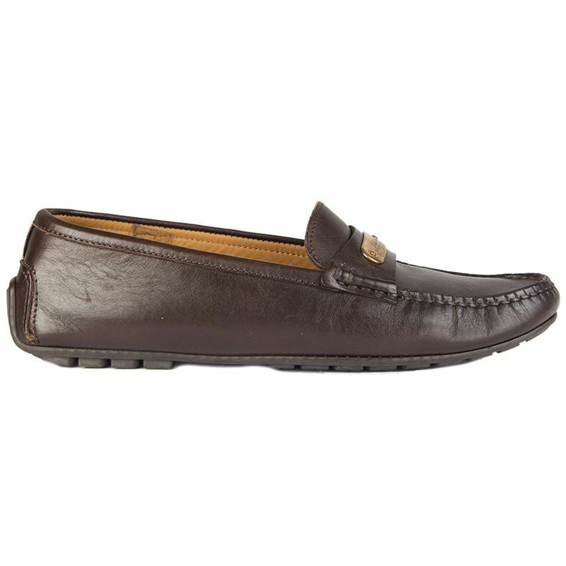 55031 auth RALPH LAUREN brown leather Moccasins Loafers Flats shoes 7 B