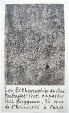 Jean Dubuffet Lithographies Plakat Orig Lithographie Mourlot 1959 arte povera