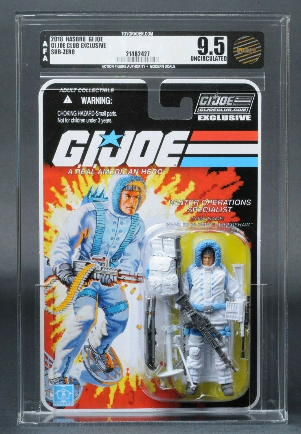 2018 GI Joe Sub-Zero AFA U9.5 Club Exclusive FSS 6.0 MOC