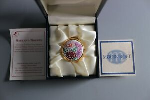 Moorcroft-Enamel-Pill-Box-With-Original-Display-Box-Floral-Design
