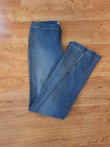 28 spaccati fessura Sz lavaggio leggero anteriore a elasticizzata Jeans g8Wwfq76n
