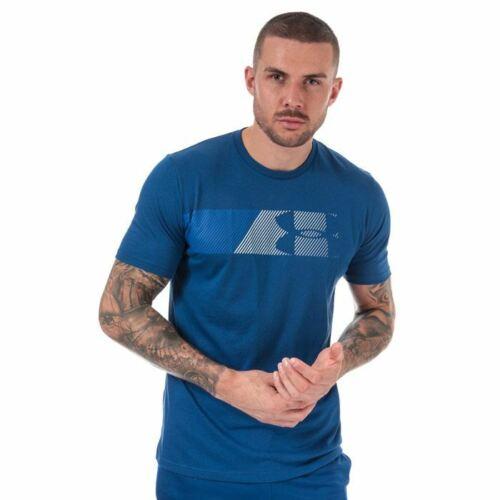Men/'s Under Armour UA rapide poitrine gauche à encolure ras-du-cou à manches courtes T-Shirt en Bleu