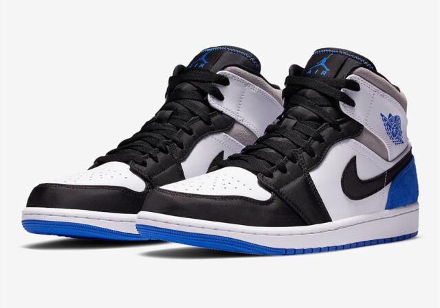 Nike Air Jordan 1 Mid SE Union Game Royal Blue Toe 852542-102 Men Size 10.5