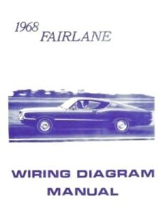 MUSTANG 1968 Wiring Diagram Manual 68