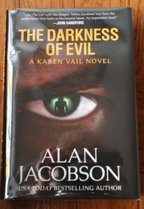 SIGNED-034-Darkness-of-Evil-034-by-Alan-Jacobson-NEW-Limited-Numbered-Edition-Book-BC