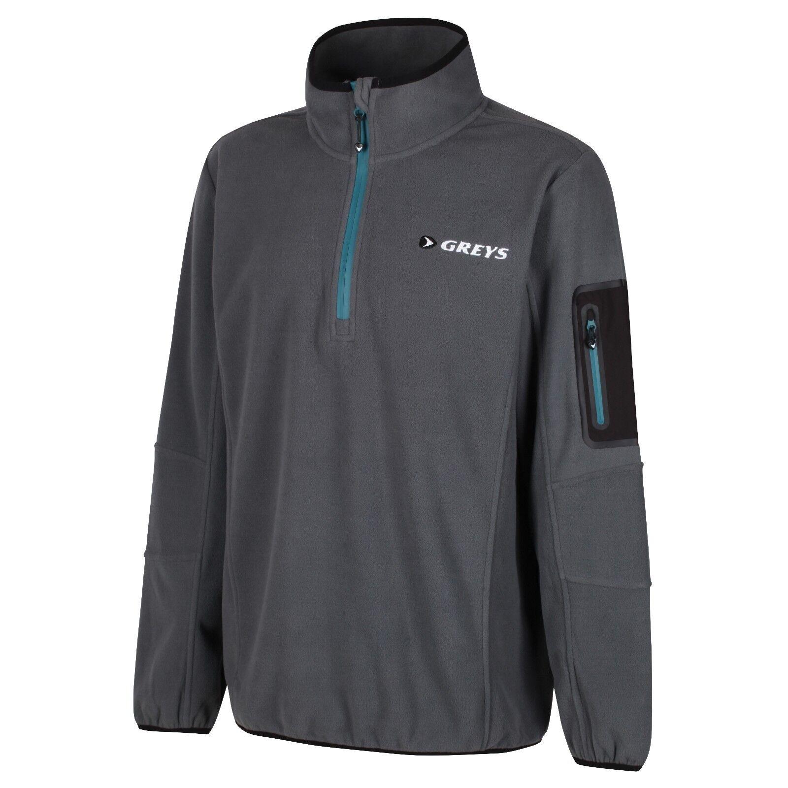 griss nuevo micro Fleece pescar chaqueta opaca viento firmemente transpirable