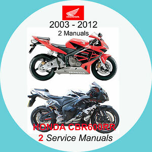 honda cbr600rr 03 12 service manual 2 manuals on 1 cd 03 06 07 rh ebay co uk 07 honda cbr 600rr service manual pdf Honda 600RR