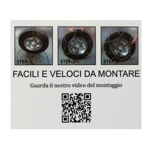 CATENE DA NEVE 9MM 185//55 R15  OMOLOGATE V5117