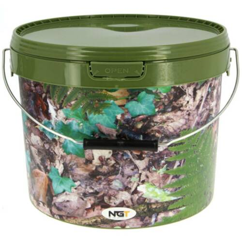 Spoon Handle 2.5L Bucket Groundbait Carp Fishing Bait Mix Bowl Boilie Grinder