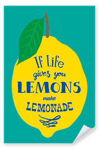 Postereck-Poster-0993-Plakat-life-gives-you-lemons-Zitrone-Limonade-Spruch