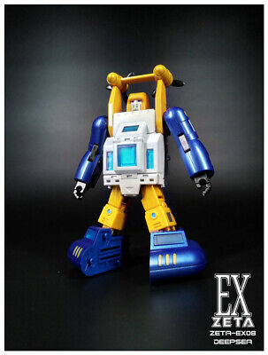Transformers Toys Zeta EX-08 Deepsea G1 Seaspray Metallic color figure in stock~