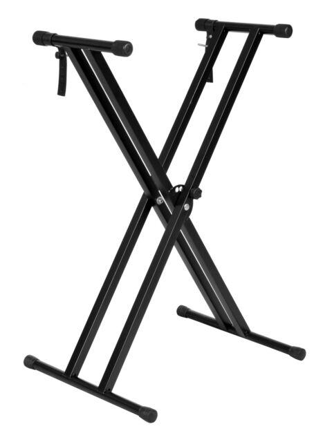 Adjustable Metal Music Keyboard Electronic Piano Dual Tube X Stand Standard Rack