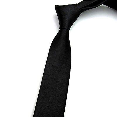 Casual Slim Plain Men's Solid Skinny Neck Party wedding Tie  Necktie