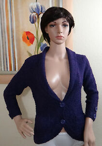 Nwt Eci con collo xs cardigan Button 3 V Maglione Ny Purple a 4 Scollo TBSnwfdq6
