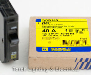 ***SUPER SALE*** SQUARE D QOB140 Bolt-On Circuit Breaker 40 amp 120//240V 1 Pole