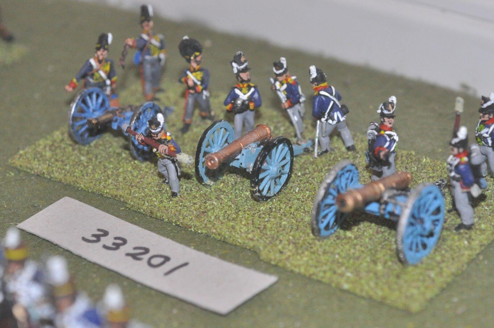 25mm napoleonic   british - 3 guns & crews - art (33201)