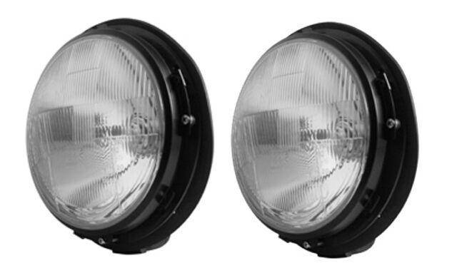 """Paire 7 """" Quatre Optique Phare Avant Lampes Pour Land Rover Defender Mini Kit"""