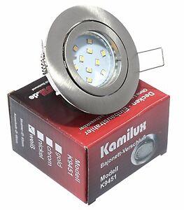 230V LED Einbaustrahler Set Timo  5W Modul(20mm flach) Nass Feuchtraum Bajo