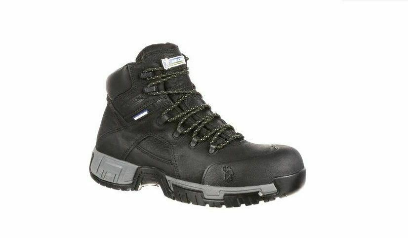 Michelin Men's HydroEdge ST Puncture-Resistant WP Work Boots Black XHY866