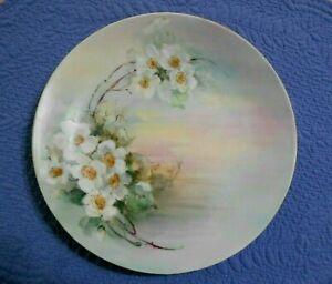 WG-amp-Co-Limoges-France-Plate-Signed-Floral-Plate-William-Guerin