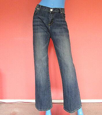 Victoria Beckham Rock Republic Madrid Jeans 31 Fleur De Lis M L 10 12 Stretch