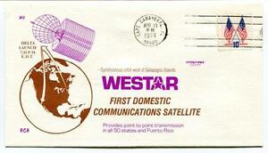 1974 Westar First Domestic Communications Satellite Delta Cape Canaveral Usa Sat