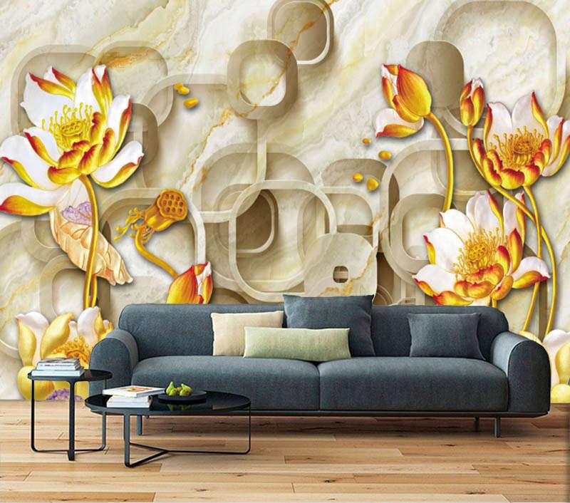 Fresh Spare Lotus 3D Full Wall Mural Photo Wallpaper Printing Home Kids Decor