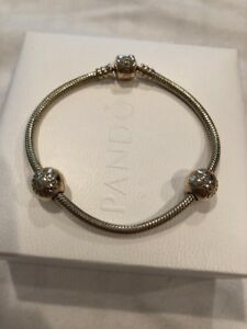 Image Is Loading 14k Gold Ale G585 Pandora Bracelet 7 5