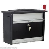 10-black Aluminum Keyed Lockable 12-1/2 H X 15-1/4 W X 7-13/16 D Mailbox Msk