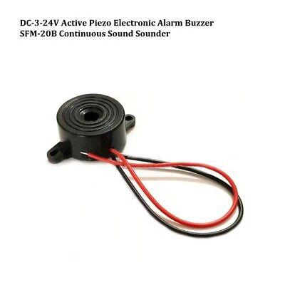 DC-3-24V Active Piezo Electronic Alarm Buzzer SFM-20B Continuous Sound Sounder