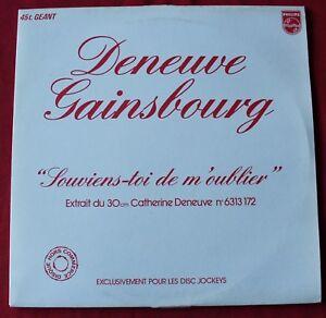 """Catherine Deneuve & Serge Gainsbourg, souviens toi de m'oublier,Maxi Vinyl promo - France - État : Occasion : Objet ayant été utilisé. Consulter la description du vendeur pour avoir plus de détails sur les éventuelles imperfections. Commentaires du vendeur : """"lire la description"""" - France"""
