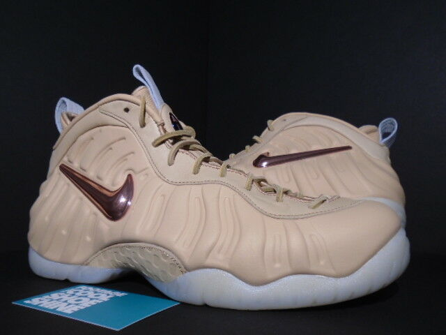 NIKE AIR FOAMPOSITE PRO PREMIUM AS QS ALL-STAR VACHETTA TAN pink gold SAIL 9.5