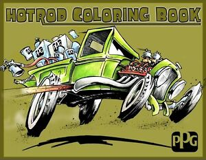 Image Is Loading PPG Refinish ARBKTS1Street Cars Coloring Book
