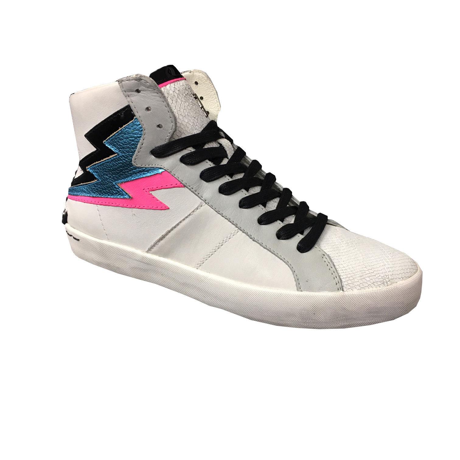 CRIME LONDON fuxia scarpa donna bianco dettagli fuxia LONDON / azzurro / nero multimateriale d96e53