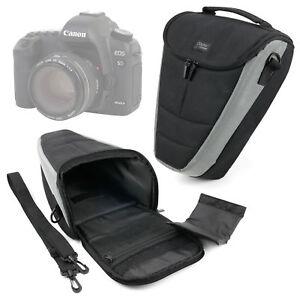 Hard-Black-Bag-per-Canon-EOS-5D-amp-Mark-IV-6D-fotocamera-SLR-con-cinghia-tracolla-imbottita