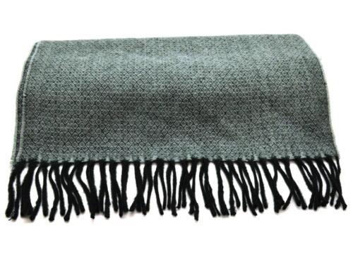 Winter Dockers Men/'s Women/'s Scarves Black Gray Diamond Fringe Fashion Scarf NEW