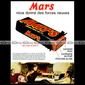 MARS-1965-Chocolate-Candy-Bar-Pub-Publicite-Original-Advert-Ad-A679