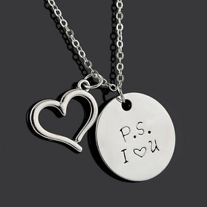 name heart personal necklace gift of couple detail pictures pendant