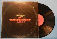 FRANK MARINO & MAHOGANY RUSH LIVE VINYL LP '78 ORIGINAL PRESS NICE COND! VG/VG!!