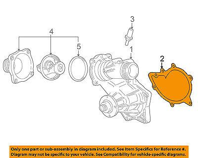 BMW Water Pump Gasket Germany Genuine OEM Original 11511731372