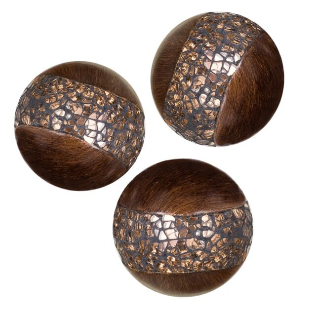 Schonwerk Walnut Decorative Orbs For Bowls And Vases Set Of 40 Resin Inspiration Decorative Orbs For Bowls